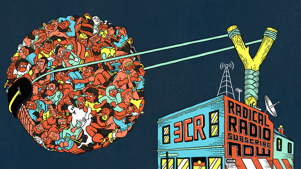 3CR Subscriber Drive artwork by Sam Wallman