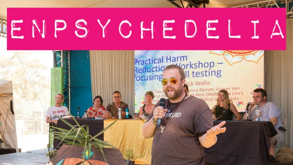 Enpsychedelia hosting a panel at Rainbow Serpent Festival in 2017