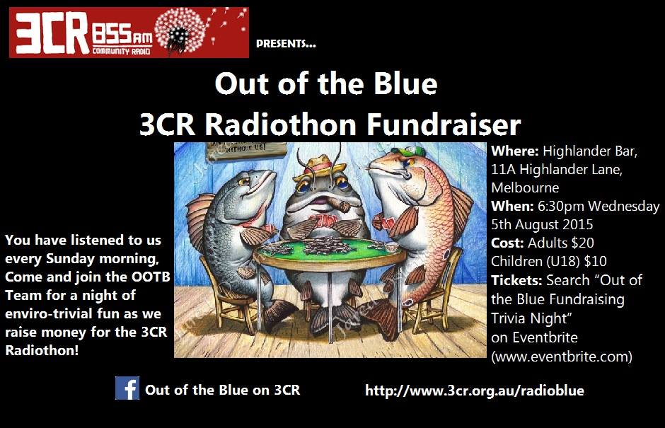 Out of The Blue Trivia Night, Wednesday Aug 5.