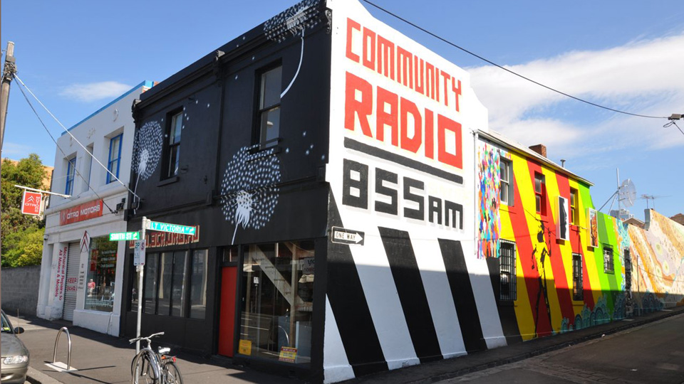 3CR Community Radio station's new mural