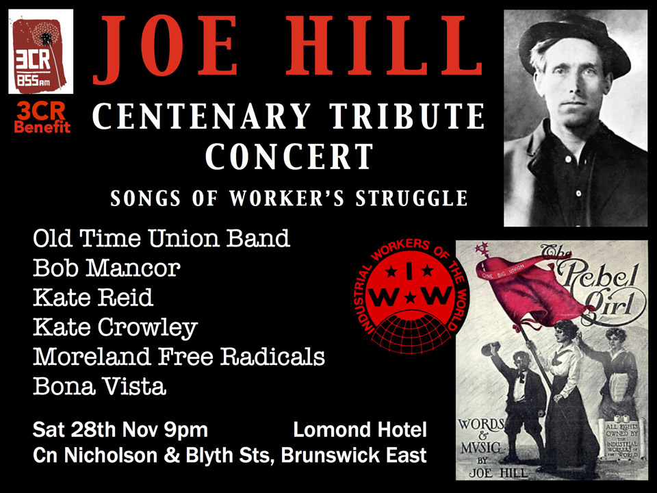 Joe Hill Tribute Benefit for 3CR