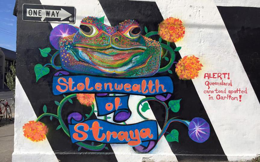 Corey Green's artwork on the 3CR sidewall