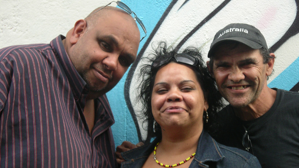 Kutcha Edwards, Shiralee Hood and Robbie Thorpe