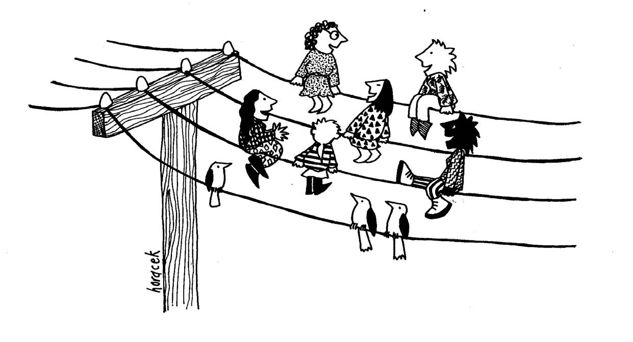 30 years of Women On the Line - Women on the powerlines, Judy Horacek