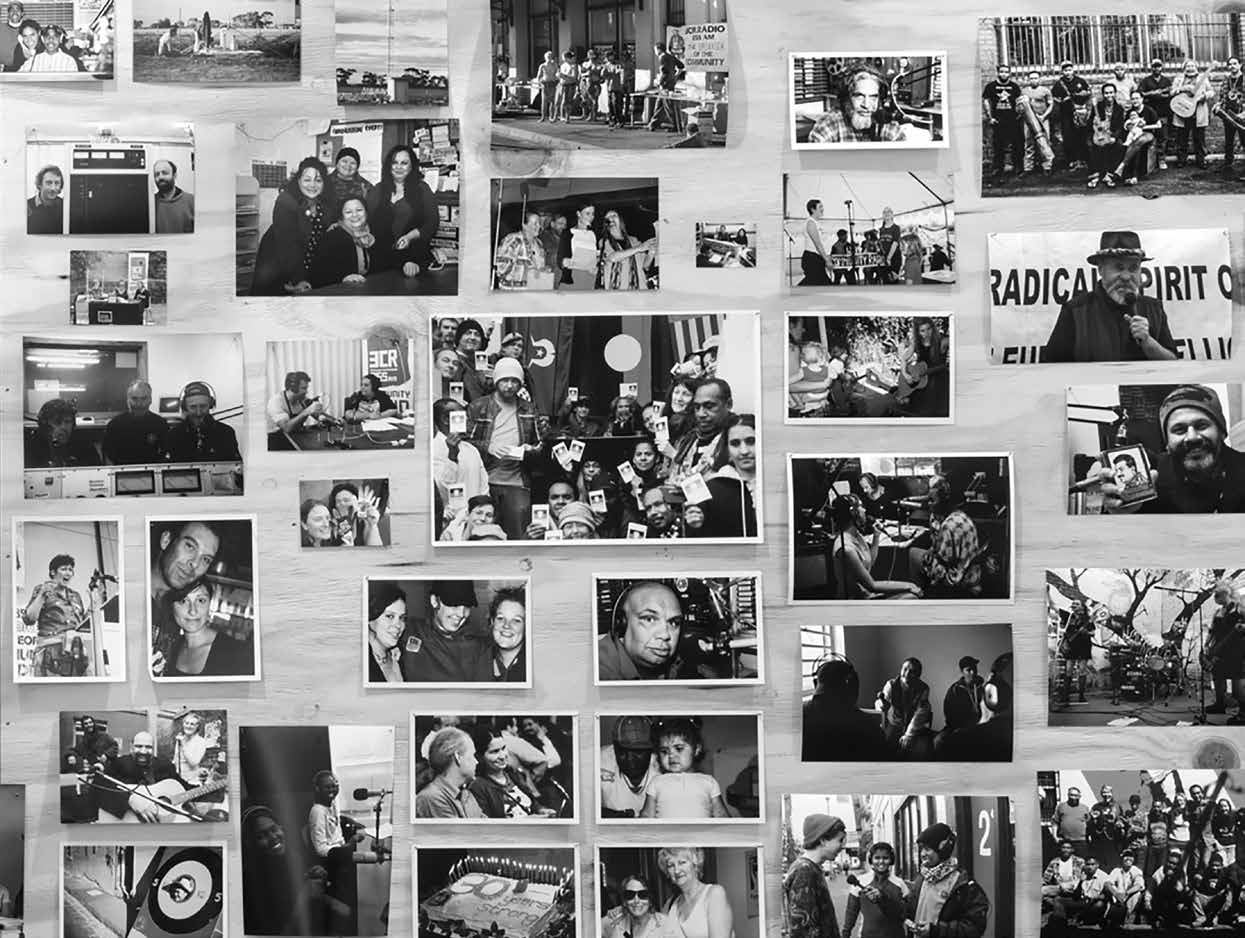 Photo board 2 at the 3CR 'If People Powered Radio' exhibition