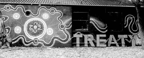 Treaty Now - Mural on the Yarra Youth Centre, Fitzroy
