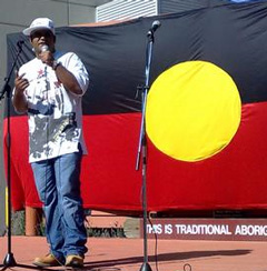 Indigenous MC and Community broadcaster, Johnny Mac