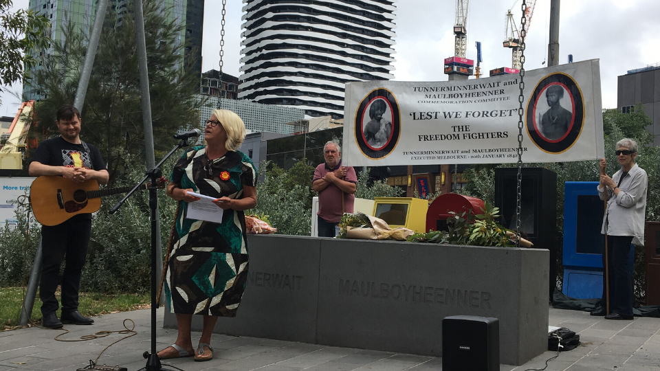 Jeanette Rowe opening the 2020 Tunnerminnerwait & Maulboyheenner Commemoration