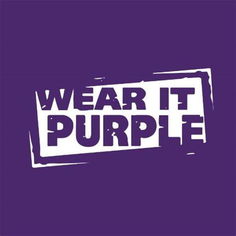 purple text wear it purple on white with purple border