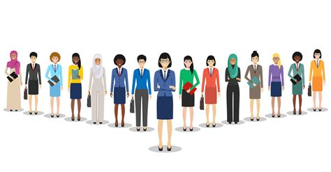 picture of woman/feminine appearing person in front of sdiverse range of similar people