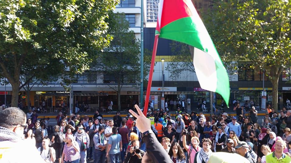 Gaza solidarity rally Melbourne