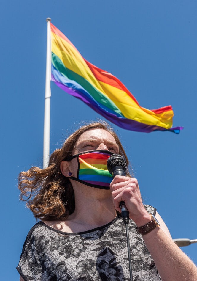 April Holcombe, One Nation's Education Bill and Sydney Protest; Ghassan Kassisieh, Campaign to Abolish the Gay Panic Defence in South Australia; Graeme Watson, Out in Perth, LGBTIQ News