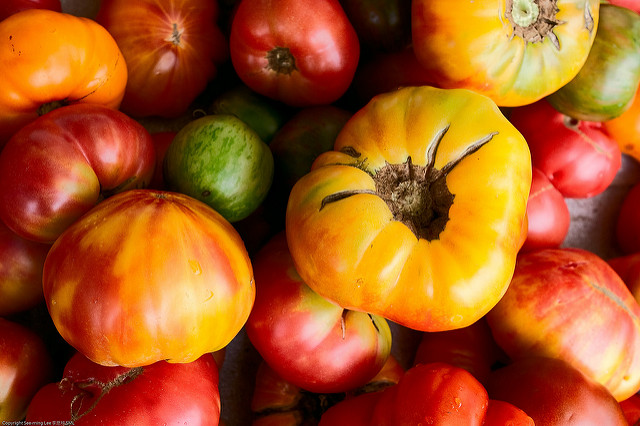 Heirloom tomatoes (Photo by See-Ming Lee, via Flickr)