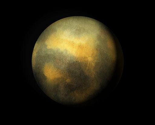 Artists impression of Pluto