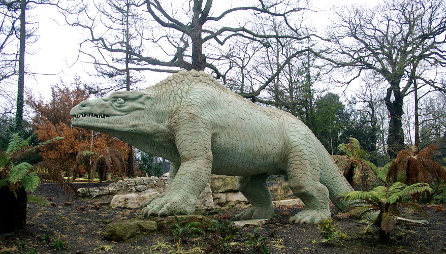Crystal Palace dinosaur in London