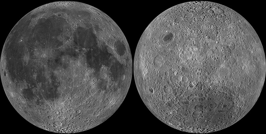 The near and far sides of the Moon, as seen by the Luna Reconnaissance Orbiter (Photo: NASA/Goddard/Arizona State University)