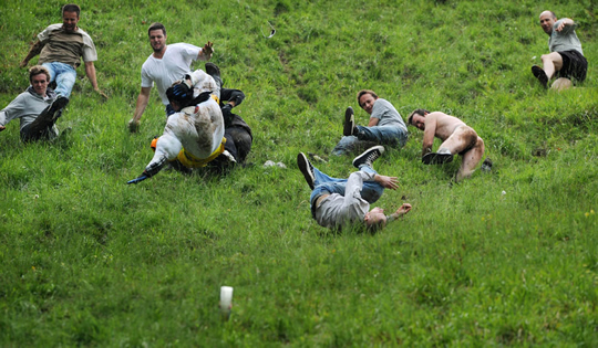 Cheese rolling festivals are found around the world.