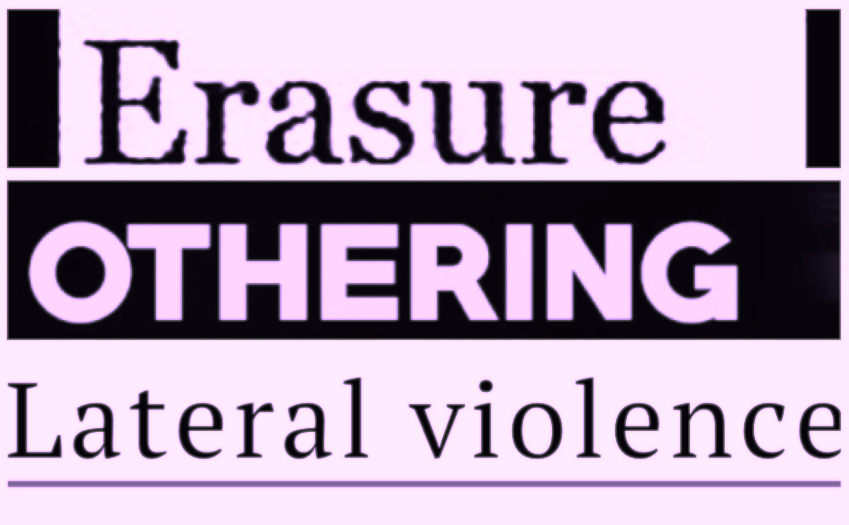 Erasure, othering, and lateral violence