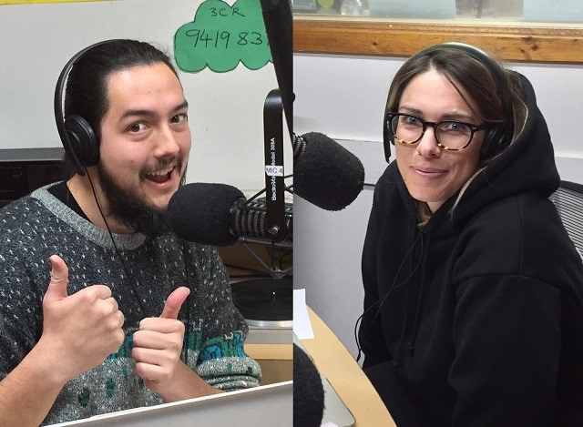 Hosts Will and Lucy in the Studio