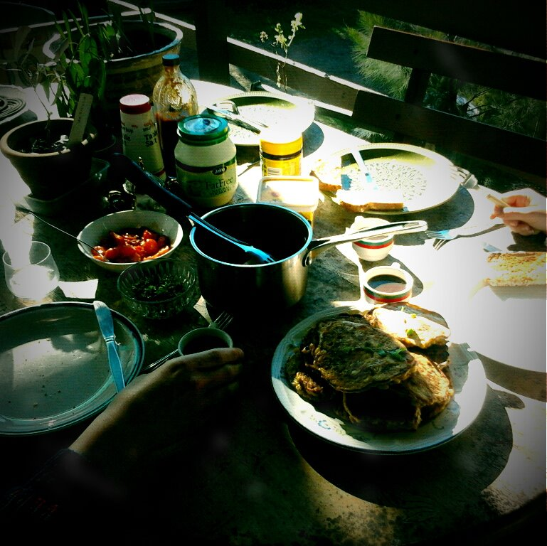 Food on the balcony at Middleton Street. Photo credit: Aimee