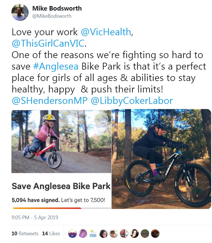 Keeping the pressure on to retain Anglesea Bike Park