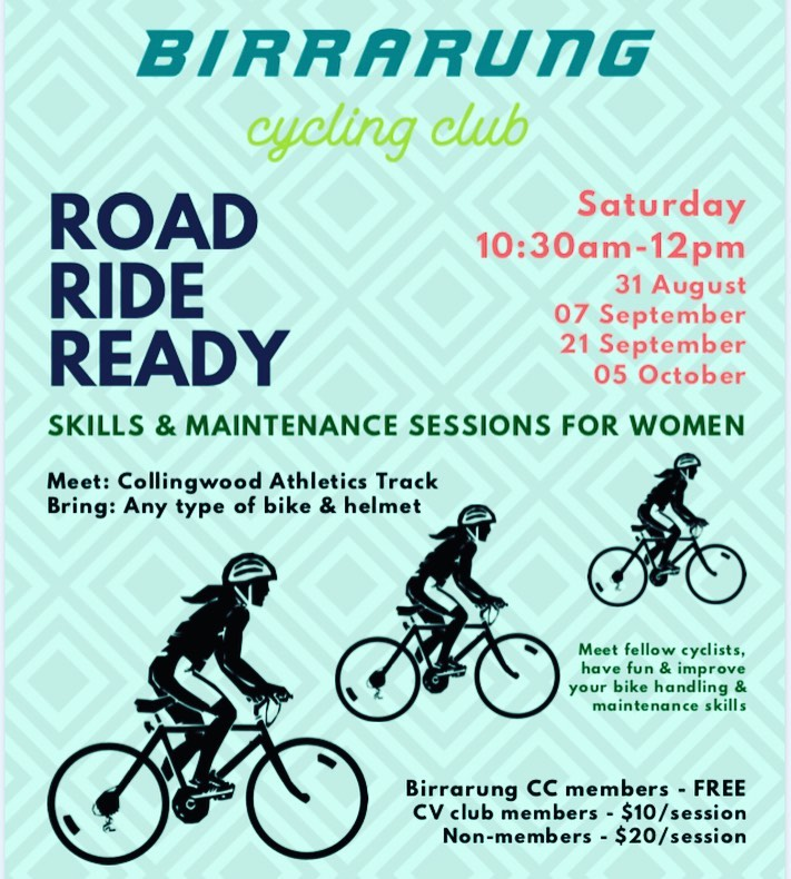 Birrarung Cycling Club - Road Ride Ready sessions