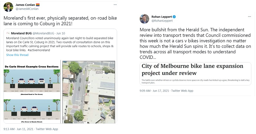 Telling it as it is and getting it done, cycling infrastructure in Moreland and Melbourne