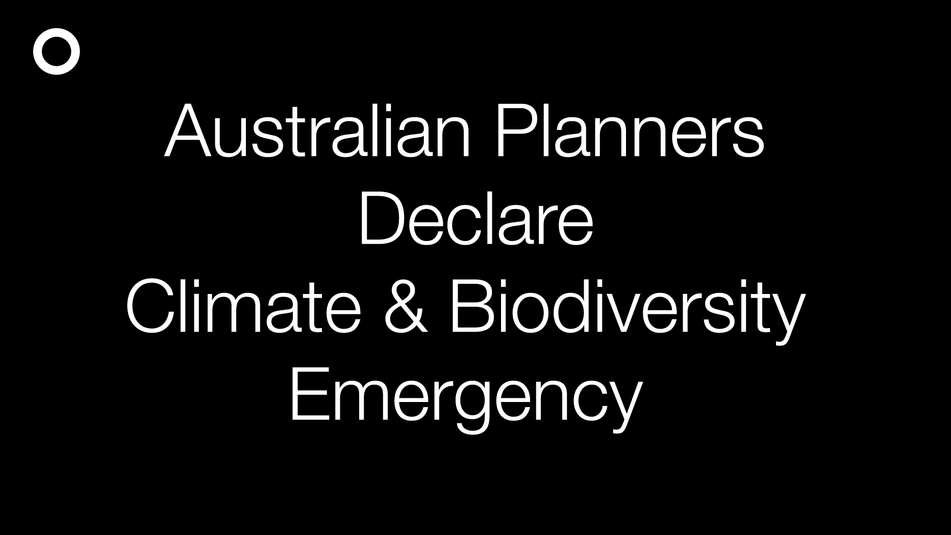 Australian Planners Declare Climate and Biodiversity Emergency