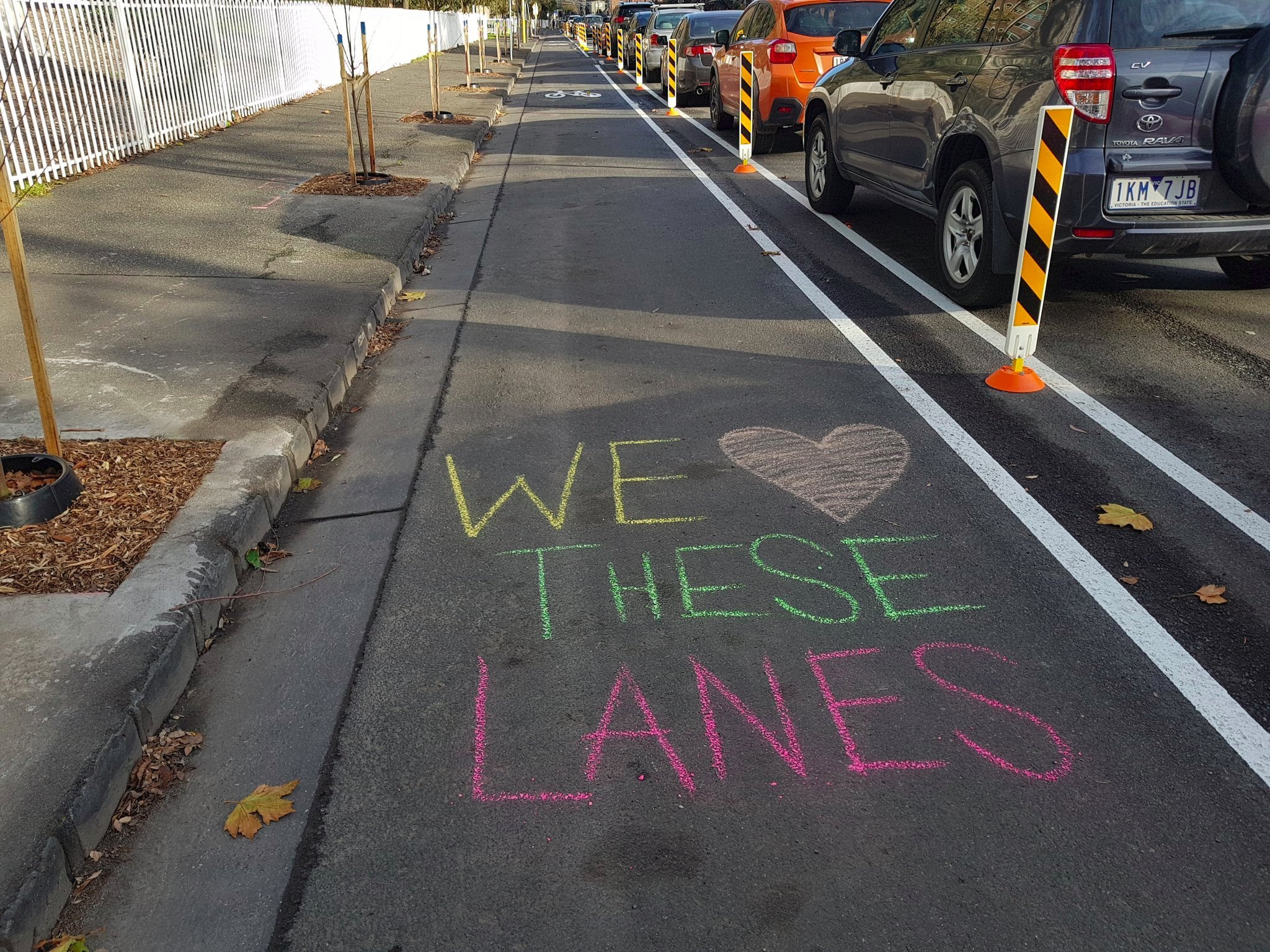 Yay for Elizabeth Street protected bike lanes trial!