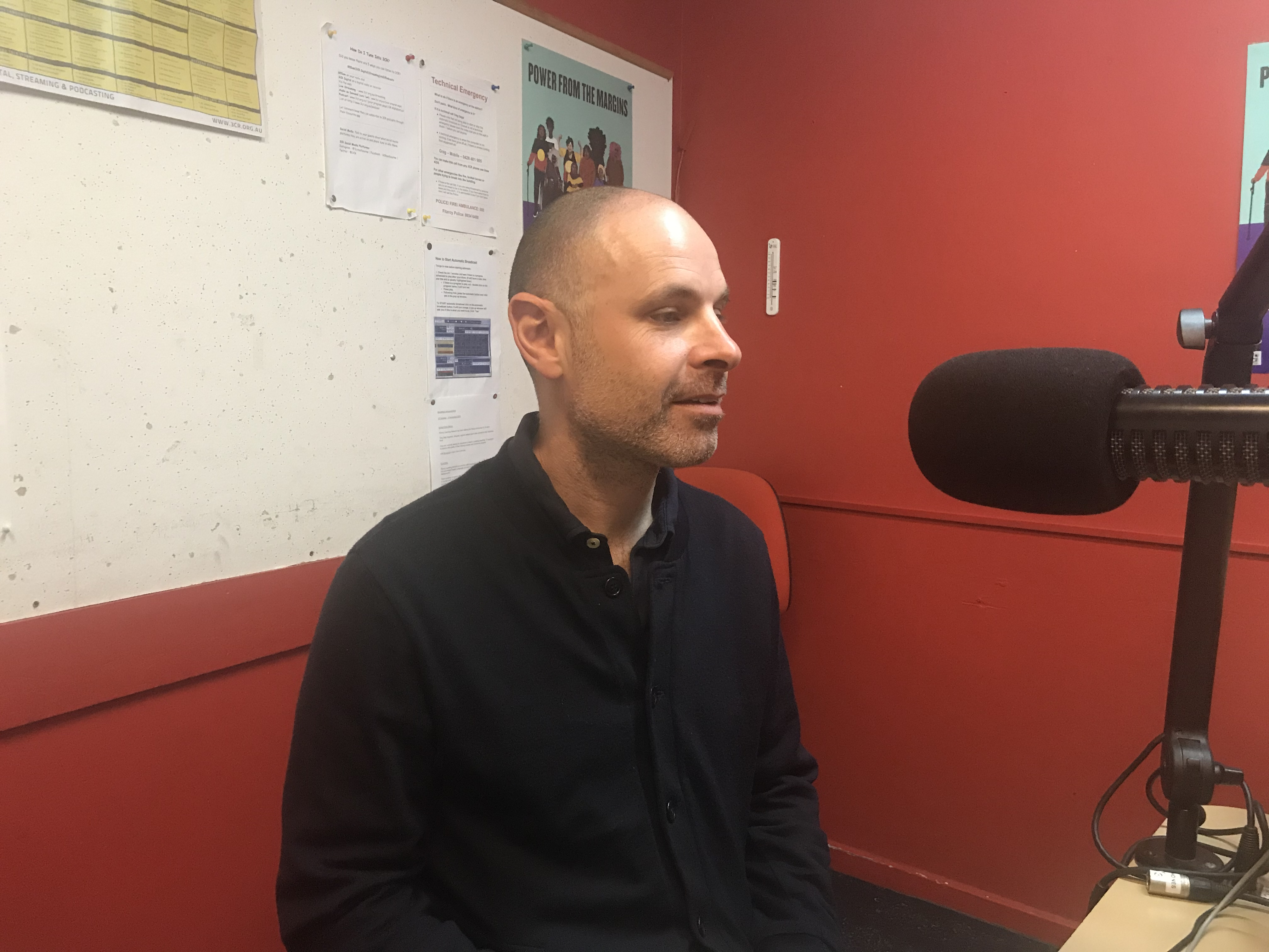 Dr Elliot Fishman of the Institute for Sensible Transport in the studio at 3CR Community Radio on the Yarra BUG Radio Show