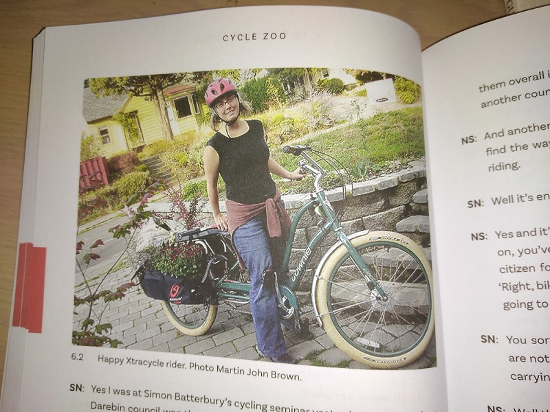 Happy Xtracycle rider. Photo: Martin John Brown, (Cycle Zoo, page 72)