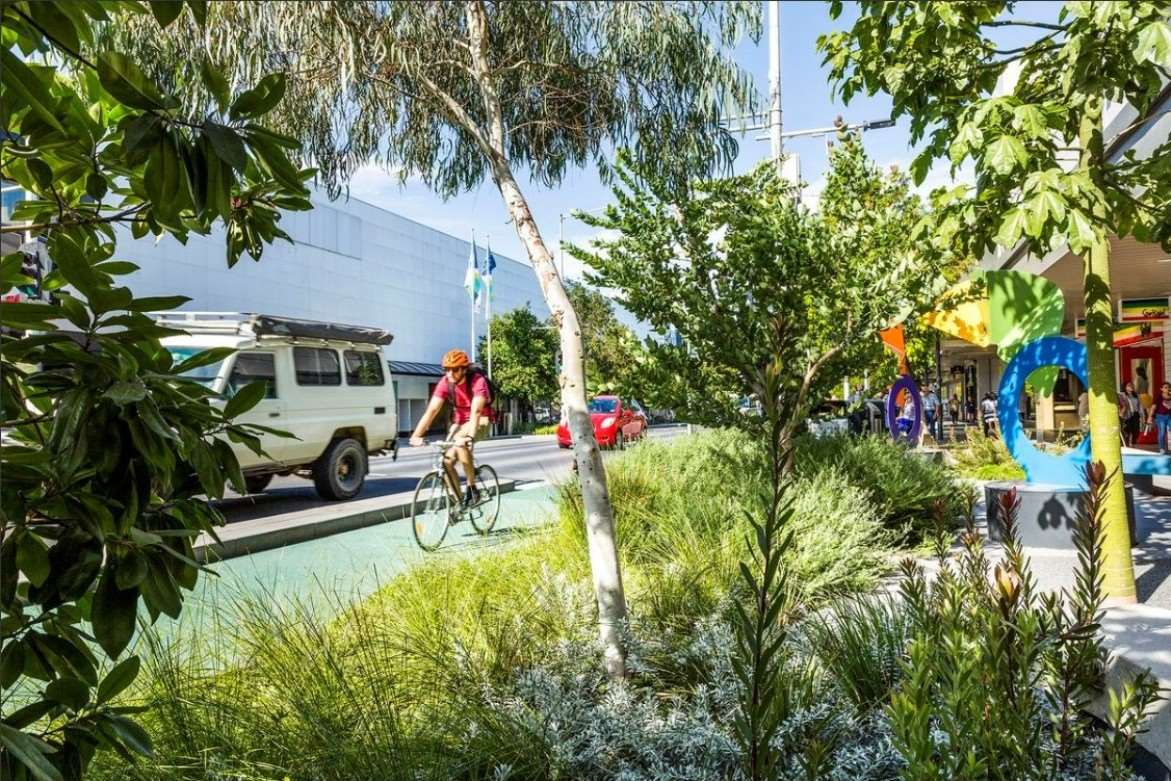 National Award for Malop Street Green Spine: October 2019. Image from City of Greater Geelong