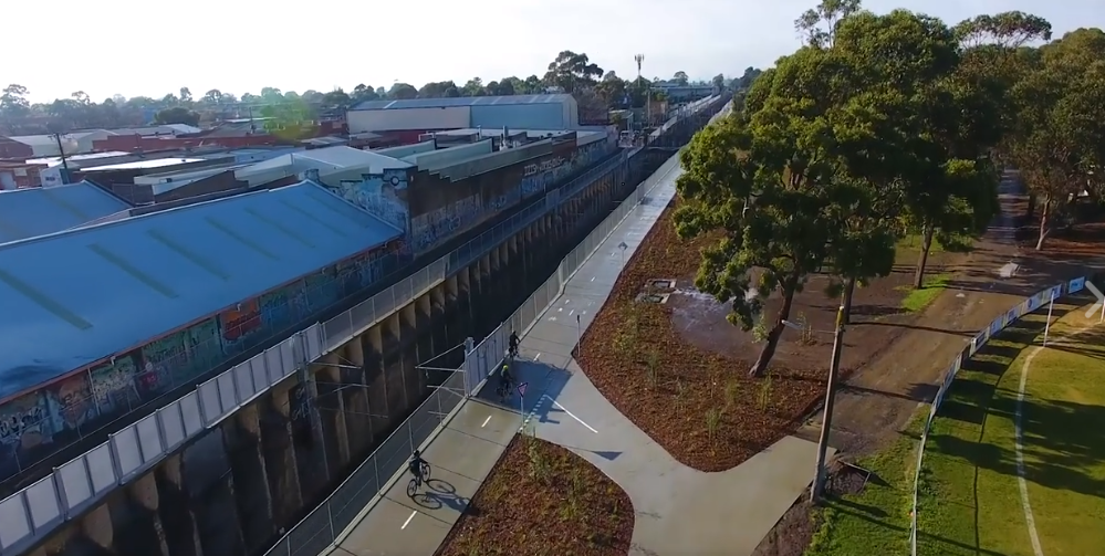 Level Crossing Removal Authority: The new shared use path from Blackburn Station to Nunwading Station is now open