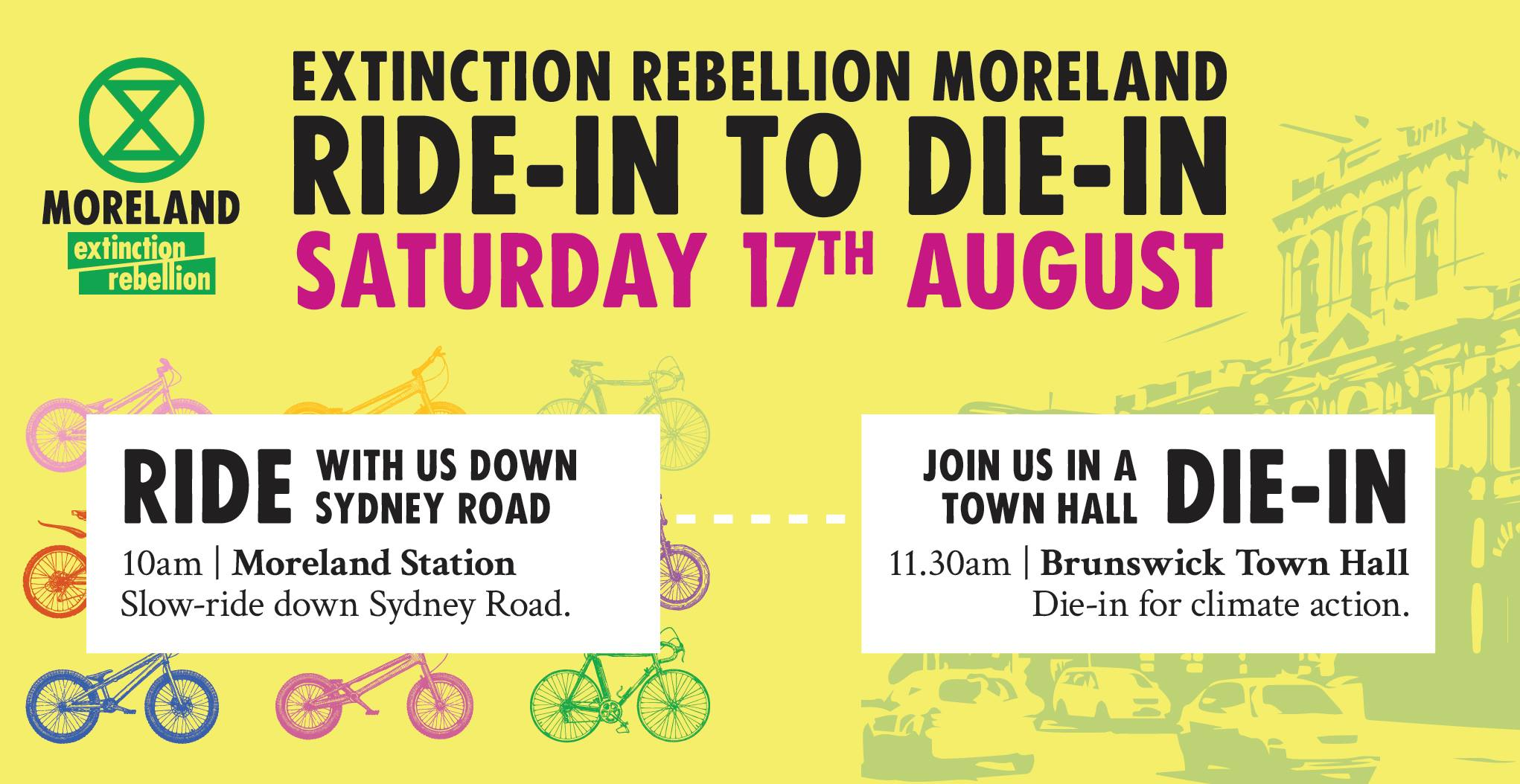 Extinction Rebellion Moreland: Ride In to Die in