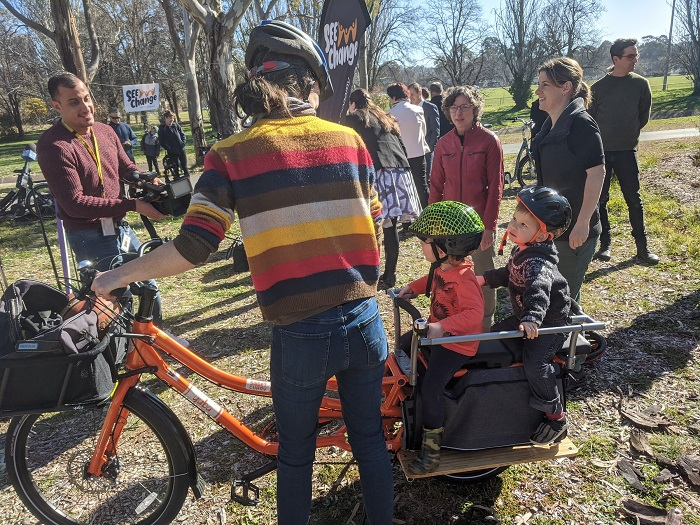 """Image credit: """"Canberra Electric Bike Library operated by SEE-Change and Switched on Cycles and supported by the ACT Government"""""""