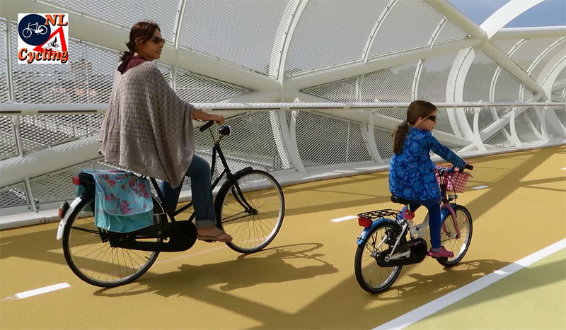 Image from Bicycle Dutch: Women of all ages and backgrounds cycle very regularly in The Netherlands