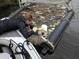 Nikki checking litter trap