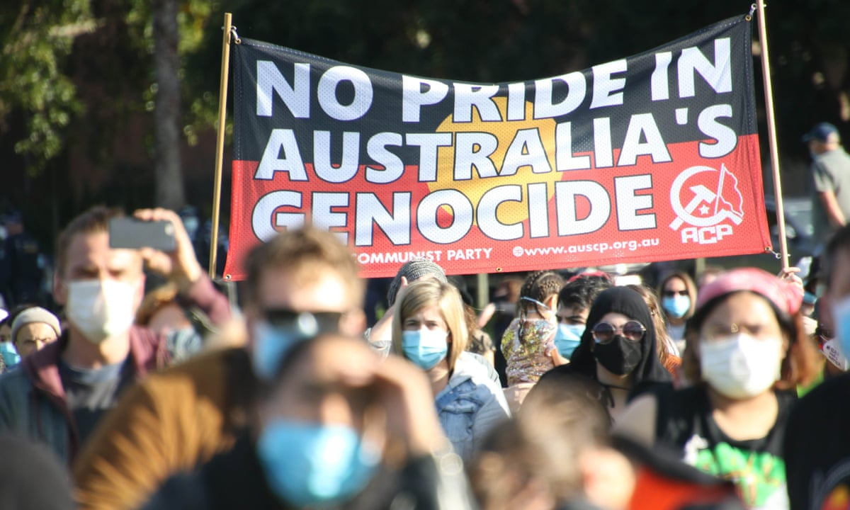 Black Deaths in Custody protest Melbourne. Image: The Guardian