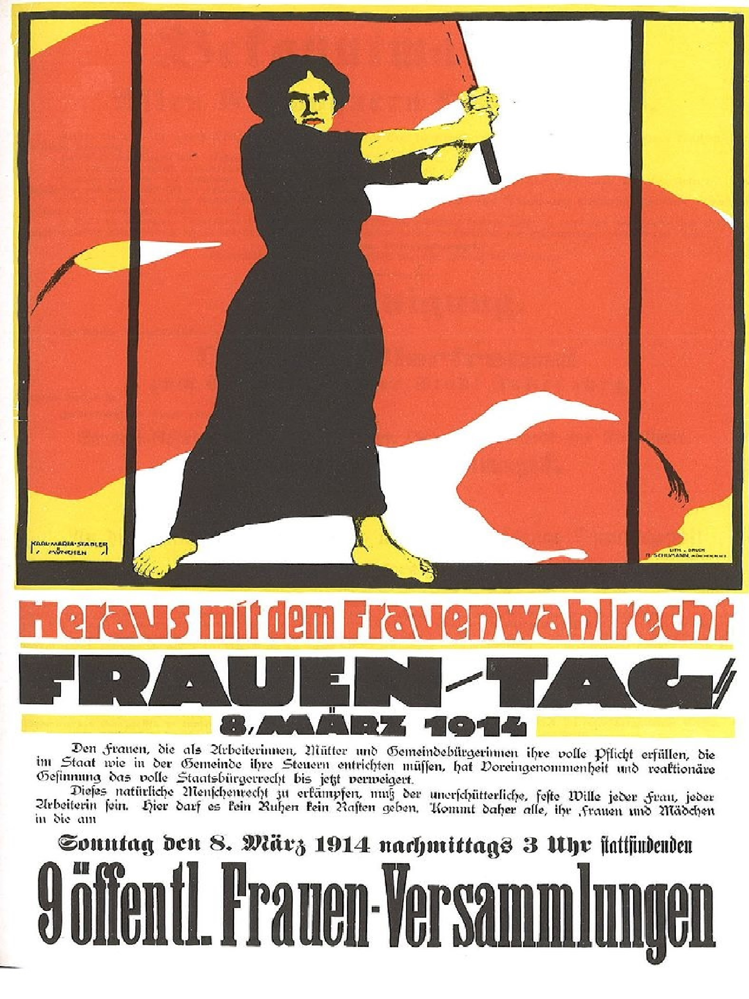 1914 Women's Day poster - calling for the vote