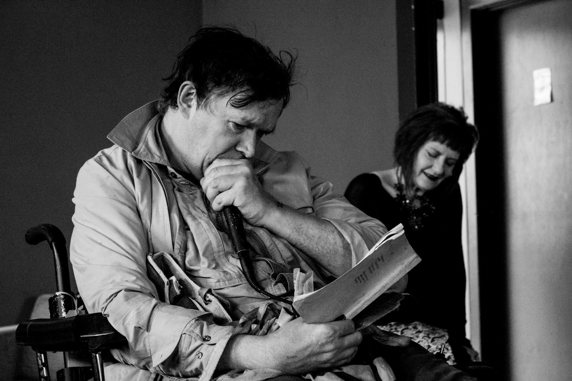 Antony Riddelll reading at The Dan Poetry Readings