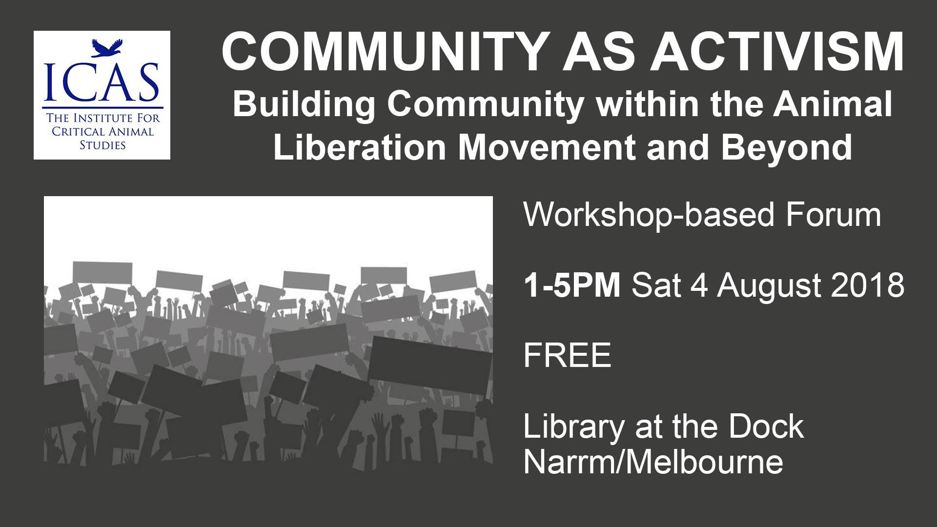 community as activism