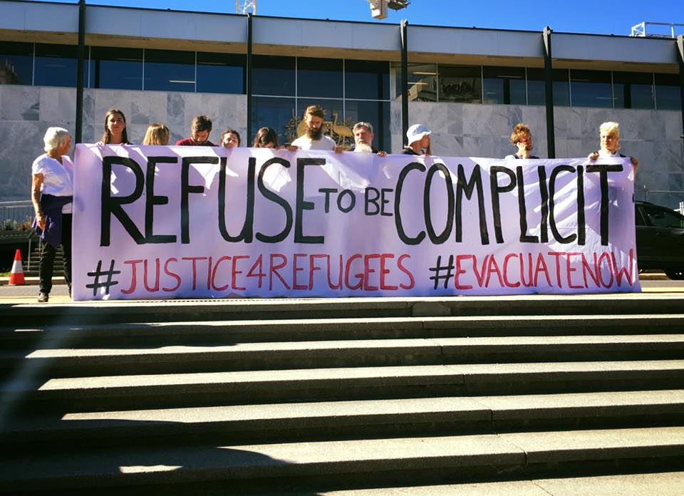 Refugee protest by Whistleblowers, Acvtivists and Citizens Alliance