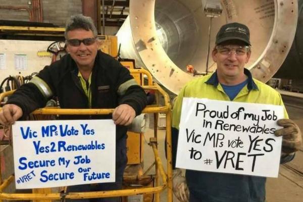 VRET means jobs
