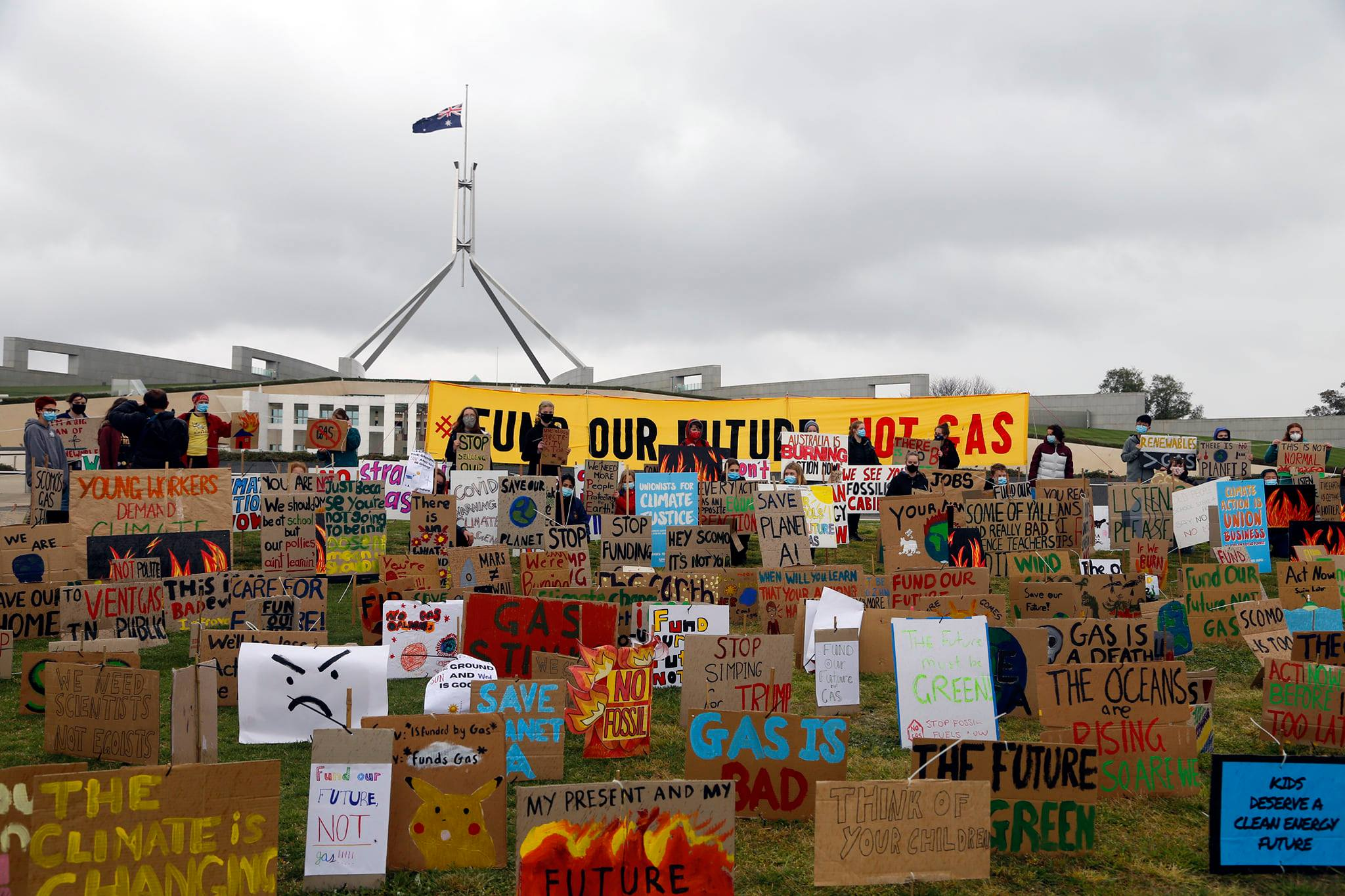 School Strikers at Parliament House, Canberra