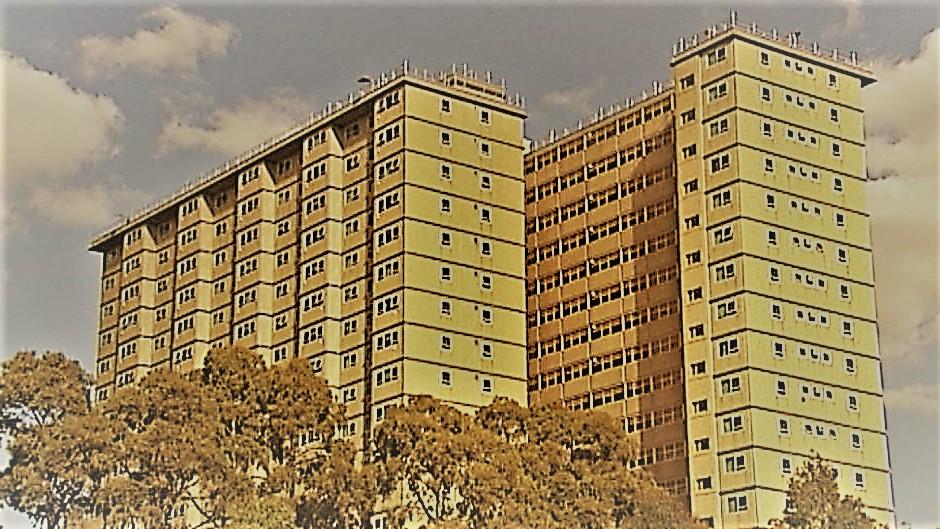 Photo of a public housing high rise