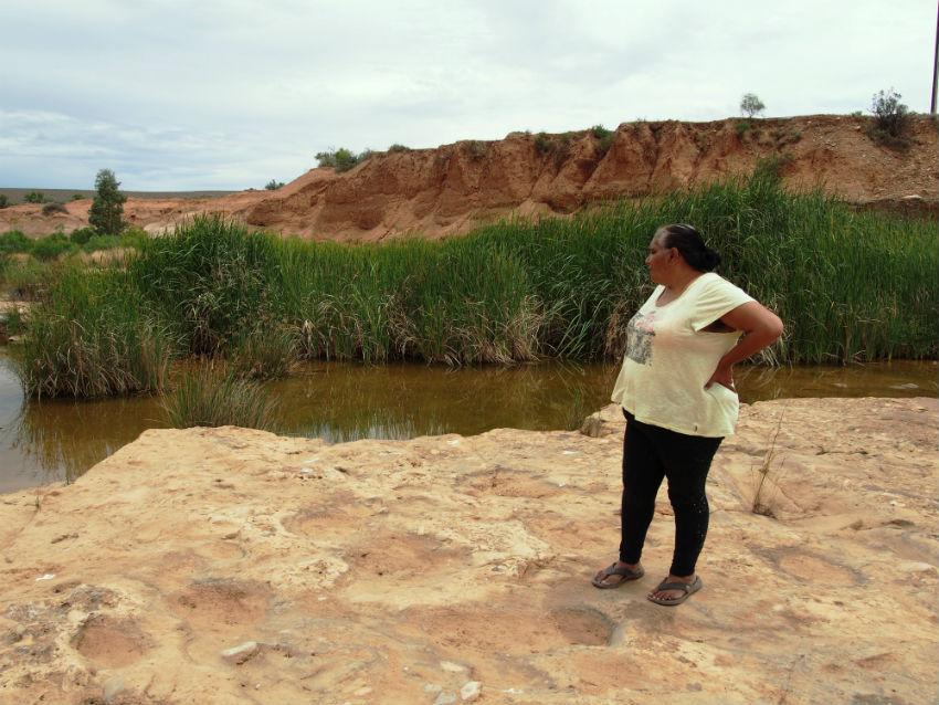 Regina McKenzie at Hookina Springs, Flinders Ranges SA