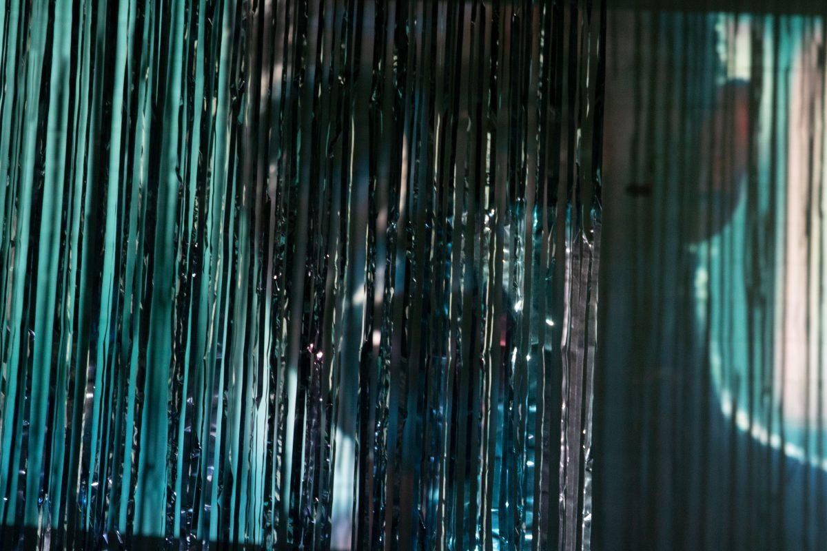 Blurred image of Blade Runner Tears in the rain scene with streamers