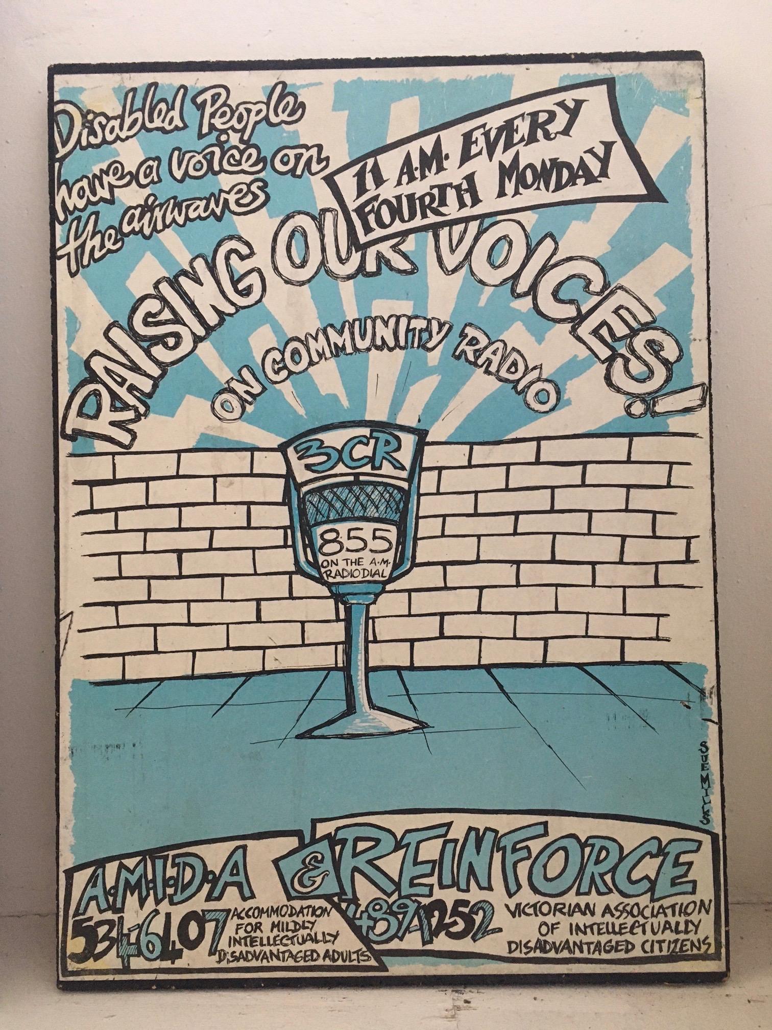 Raising Our Voices Radio Show original promo poster 1987