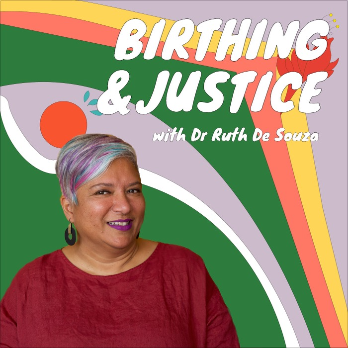 Birthing and Justice podcast. Cover image by Atong Atem