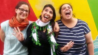 Rachael Bongiorno, Lourdes García-Larqué and Jiselle Hanna